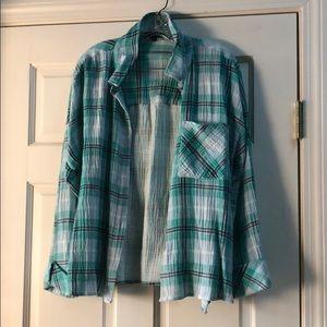 Sanctuary- Flannel Button Up- Size Large